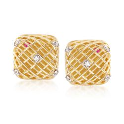 Roberto Coin 18kt Two-Tone Gold Earrings With Diamond Accents, , default