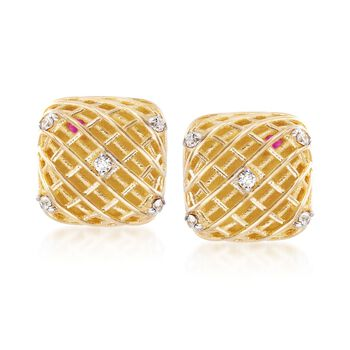 Roberto Coin 18kt Two-Tone Gold Earrings With Diamond Accents  , , default