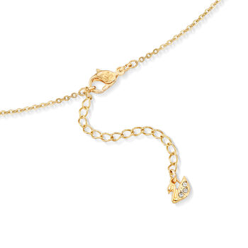 """Swarovski Crystal Multi-Colored Crystal Butterfly Charm Necklace in Gold-Plated Metal. 15"""""""
