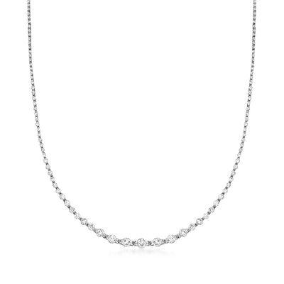 C. 1990 Vintage 5.00 ct. t.w. Diamond Necklace in Platinum