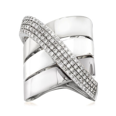 1.20 ct. t.w. Diamond Sash Ring in 14kt White Gold
