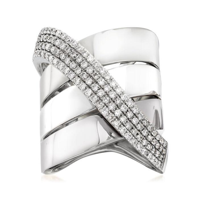 1.20 ct. t.w. Diamond Sash Ring in 14kt White Gold