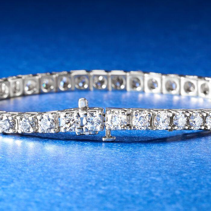 10.00 ct. t.w. Diamond Tennis Bracelet in 14kt White Gold