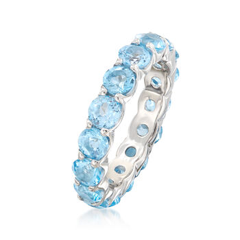 5.00 ct. t.w. Blue Topaz Eternity Ring in Sterling Silver, , default