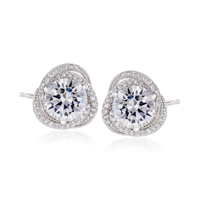4.80 ct. t.w. CZ Stud Earrings in Sterling Silver, , default