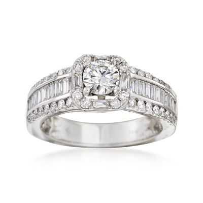 1.50 ct. t.w. Diamond Engagement Ring in 14kt White Gold, , default