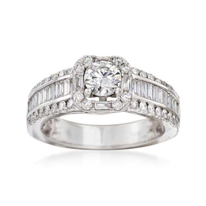 1.50 ct. t.w. Diamond Engagement Ring in 14kt White Gold