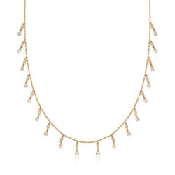 .89 ct. t.w. Diamond Drop Necklace in 14kt Yellow Gold, , default