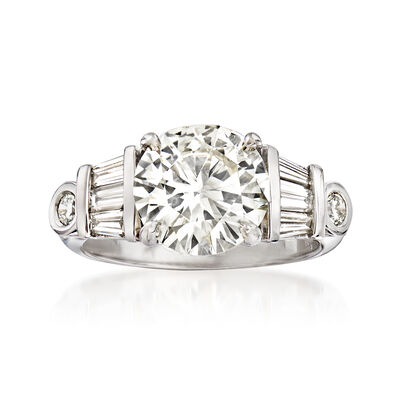 Majestic Collection 3.96 ct. t.w. Diamond Ring in 18kt White Gold, , default