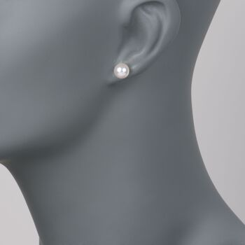 Mikimoto 7.5-8mm AA Akoya Pearl Stud Earrings in 18kt White Gold