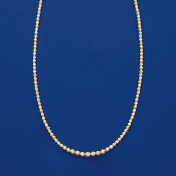 3.00 ct. t.w. Graduated Diamond Tennis Necklace in 14kt Yellow Gold, , default