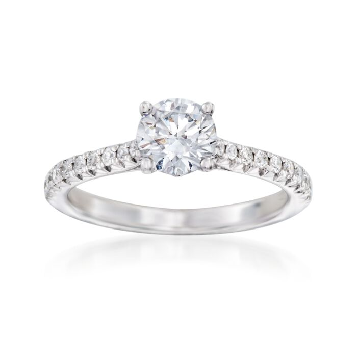 .23 ct. t.w. Diamond Engagement Setting in 14kt White Gold