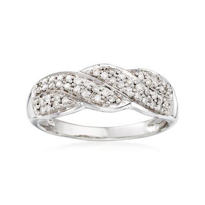 .24 ct. t.w. Diamond Twist Ring in Sterling Silver, , default
