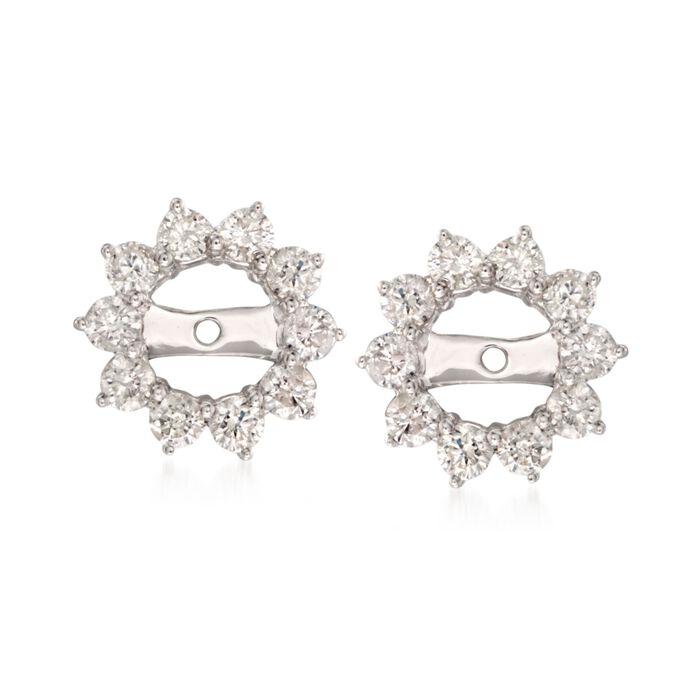 1.00 ct. t.w. Diamond Earring Jackets in 14kt White Gold. Earring Jacket, , default