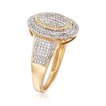 .25 ct. t.w. Pave Diamond Oval Ring in 14kt Yellow Gold