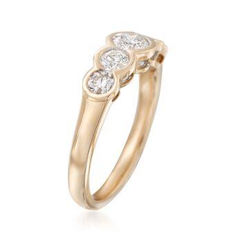 1.00 ct. t.w. Bezel-Set Diamond Five-Stone Ring in 14kt Yellow Gold, , default