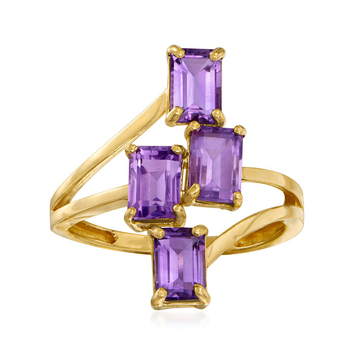 2.20 ct. t.w. Amethyst Ring in 14kt Yellow Gold