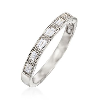 .69 ct. t.w. Baguette Diamond Ring in 14kt White Gold