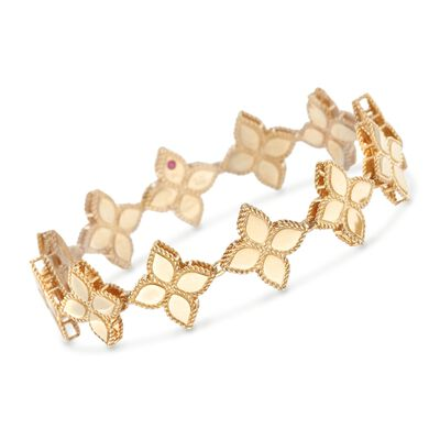 "Roberto Coin ""Princess"" 18kt Yellow Gold Flower Bracelet, , default"