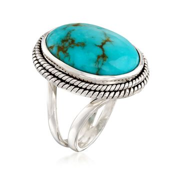 Turquoise Ring in Sterling Silver, , default