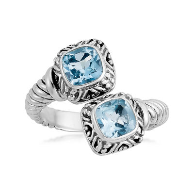 2.40 ct. t.w. Sky Blue Topaz Rope Bypass Ring in Sterling Silver, , default