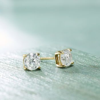 1.20 ct. t.w. Diamond Stud Earrings in 14kt Yellow Gold , , default