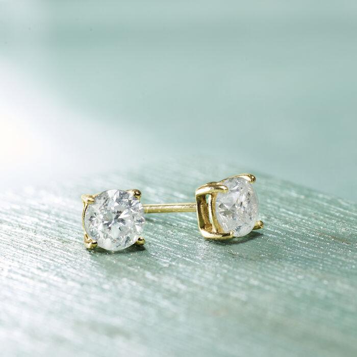 1.20 ct. t.w. Diamond Stud Earrings in 14kt Yellow Gold
