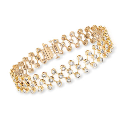 5.00 ct. t.w. Diamond Open-Link Bracelet in 14kt Yellow Gold, , default