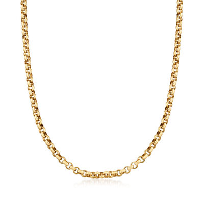 C. 1980 10kt Yellow Gold Rolo Chain Necklace, , default