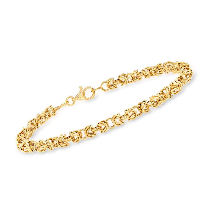 18kt Yellow Gold Byzantine Bracelet