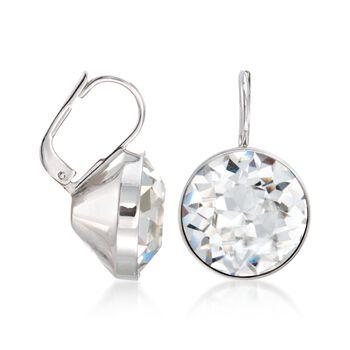 "Swarovski Crystal ""Bella"" Crystal Drop Earrings in Silvertone"