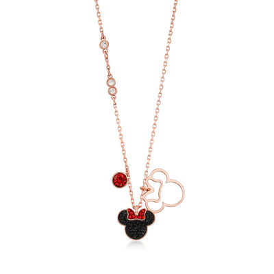 Swarovski Crystal Minnie Mouse Pendant Necklace, , default