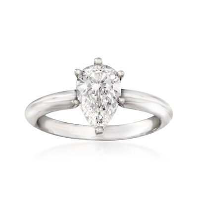 1.20 Carat Certified Diamond Engagement Ring in 14kt White Gold