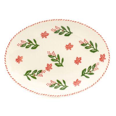 """Euro Ceramica """"Natal"""" Oval Platter, , default"""
