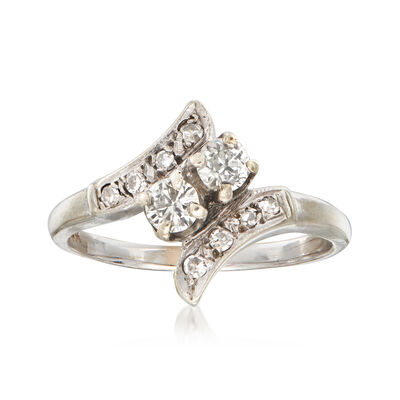 C. 1970 Vintage .52 ct. t.w. Diamond Ring in 14kt White Gold, , default