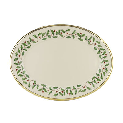 """Lenox """"Holiday"""" Dinnerware Platter, , default"""
