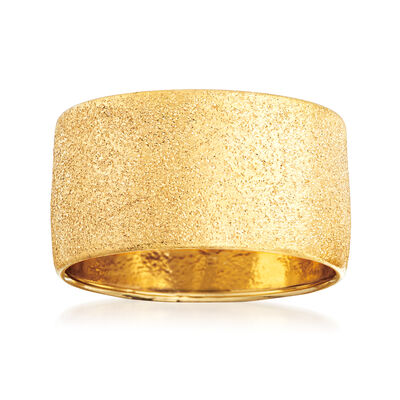 Italian Textured 14kt Yellow Gold Ring, , default