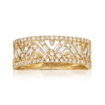 .75 ct. t.w. Diamond Zigzag Ring in 14kt Yellow Gold