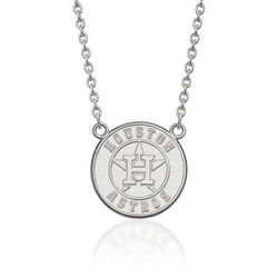 "14kt White Gold Mlb Houston Astros Pendant Necklace. 18"", , default"