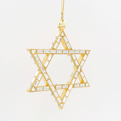 Crystamas Swarovski Crystal 24kt Gold-Plated Star of David Ornament , , default