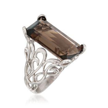 Italian 12.00 ct. t.w. Smoky Quartz Ring in Sterling Silver, , default