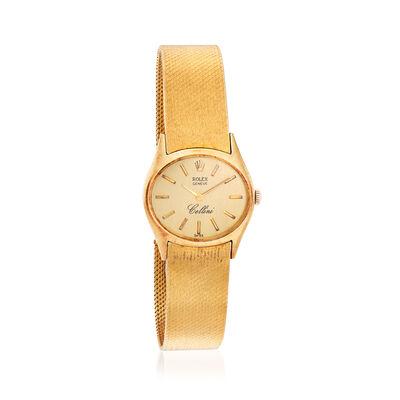C. 1960 Vintage Rolex Cellini Women's 25mm Manual Watch in 14kt Yellow Gold, , default