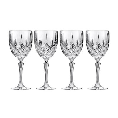 "Waterford Crystal ""Markham"" Set of Four Marquis Goblets, , default"
