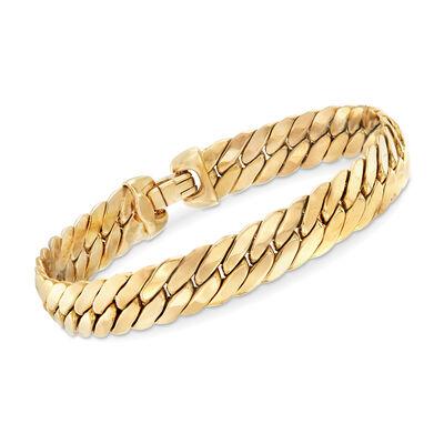 Italian 14kt Yellow Gold Cuban-Link Bracelet, , default
