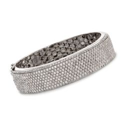 "11.00 ct. t.w. Diamond Bangle Bracelet in 18kt White Gold. 7"", , default"