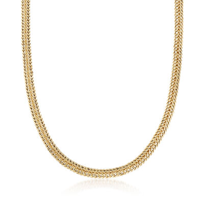 14kt Yellow Gold Double-Row Link Necklace, , default