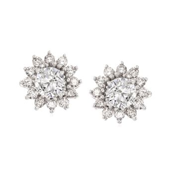 .50 ct. t.w. Diamond Earring Jackets in 14kt White Gold