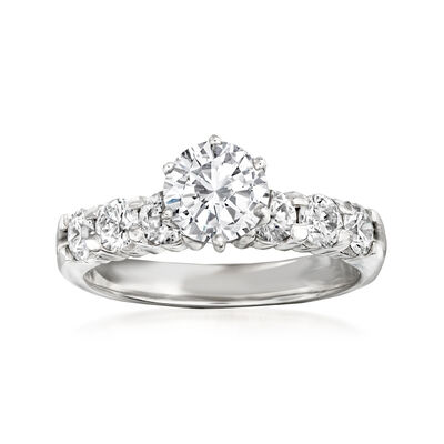 1.86 ct. t.w. Certified Diamond Ring in 14kt White Gold