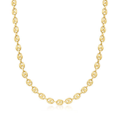 14kt Yellow Gold 7mm Marine-Link Necklace