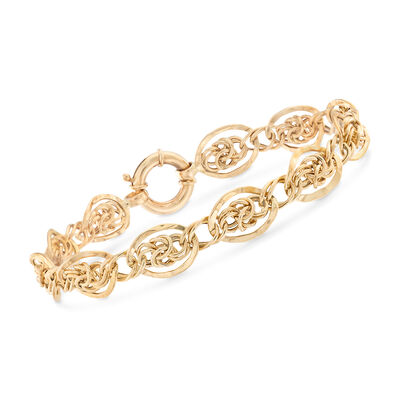 Oval-Link Bracelet in 14kt Yellow Gold, , default